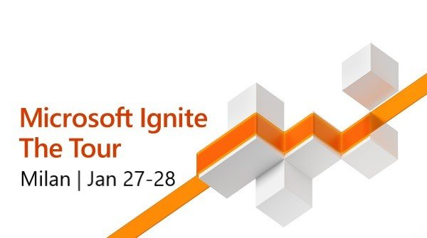 Excited to be speaking at Microsoft Ignite The Tour in Milan!